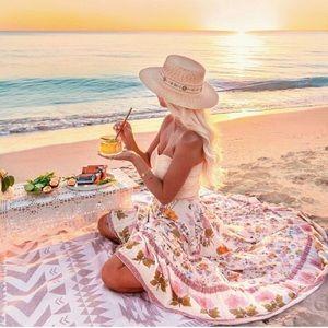 Spell Wild Bloom Maxi Skirt in Cream